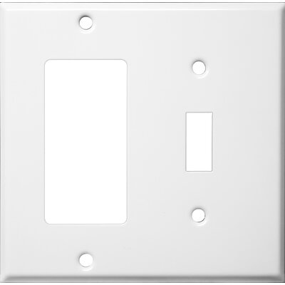 Morris Products Two Gang / Toggle and GFCI Metal Wall Plates in White