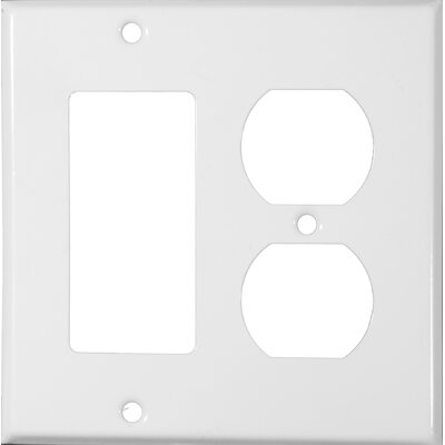 Morris Products Two Gang / GFCI and Duplex Metal Wall Plates in White