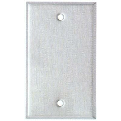 Morris Products Midsize 1 Gang Blank Stainless Steel Metal Wall Plates