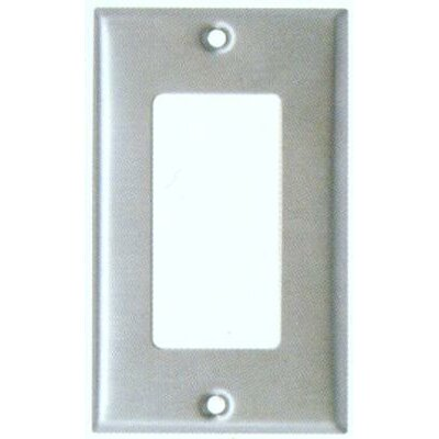 Morris Products Oversize 1 Gang Decorator / GFCI Wall Plate in Stainless