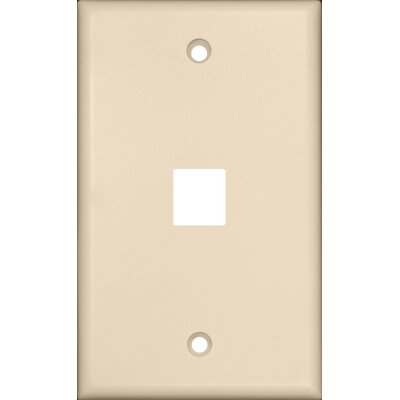 Morris Products One Port Wall Plate in Light Almond