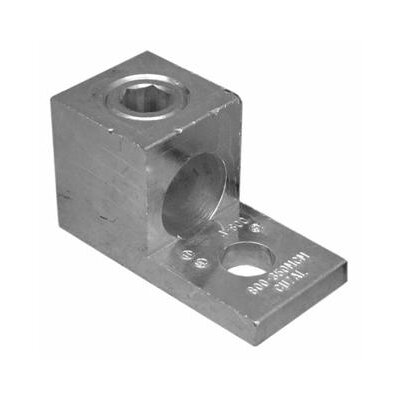 Morris Products 600 AWG One Conductor One Hole Mount Aluminum Mechanical Lug