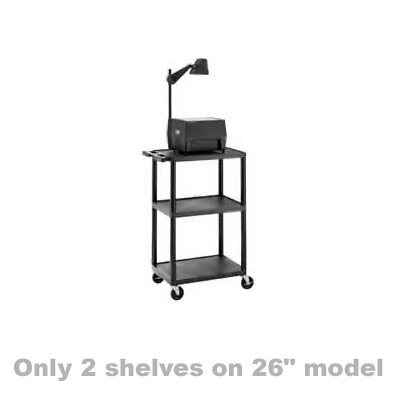 "Da-Lite Pixmate Lightweight Plastic Cart [26"", 34"", 42"" Heights]"