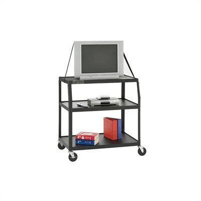 "Da-Lite UL Listed Pixmate 24"" x 38"" Shelf Television Cart"