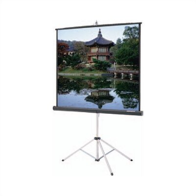 "Da-Lite High Power Black Carpeted Picture King w/ Keystone Eliminator - AV Format 96"" x 96"""
