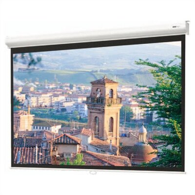 "Da-Lite Matte White Designer Contour Manual Screen with CSR  - 84"" x 84"" AV Format"