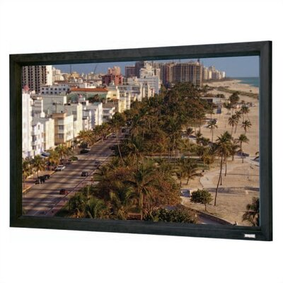 "Da-Lite High Contrast Cinema Perforated Cinema Contour Fixed Frame Screen - 50"" x 80"" 16:1 Wide Format"