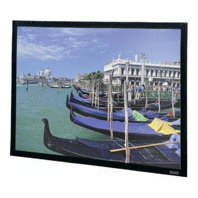 "Da-Lite High Contrast Da-Mat Perm-Wall Fixed Frame Screen - 120"" x 160"" Video Format"