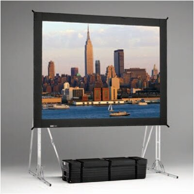 "Da-Lite Fast Fold Rear Da-Tex 120"" H x 120"" W Portable Projection Screen"