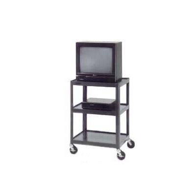 "Da-Lite Pixmate 18"" x 24"" Adjustable Shelf Standard Television Cart [32"" - 42"" Height]"