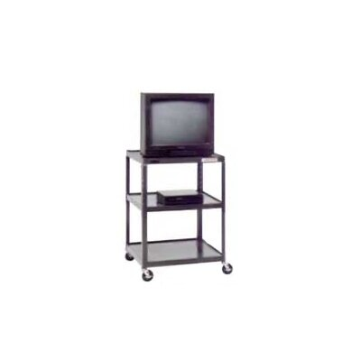 "Da-Lite Pixmate 25"" x 30"" Shelf Adjustable Height Television Cart [Up to 42"" Height]"