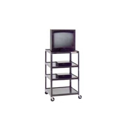 "Da-Lite Pixmate 25"" x 30"" Tall Multi-Shelf High Television Cart [54"" Height]"