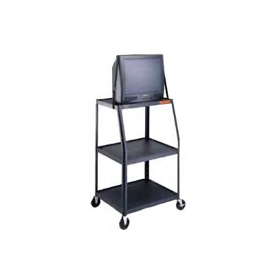 "Da-Lite Pixmate 22"" x 32"" Height Adjustable Shelf High Television Cart [50"" - 54""]"