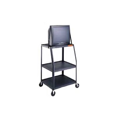 "Da-Lite Pixmate 22"" x 32"" Height Adjustable Shelf Television Cart [Up to 48"" Height]"