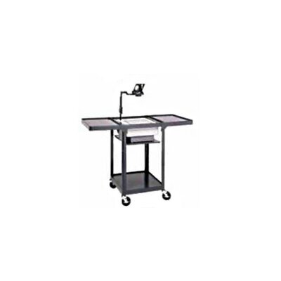 "Da-Lite Pixmate Height Adjustable 22"" x 20"" Shelf Cart with Projector Well"