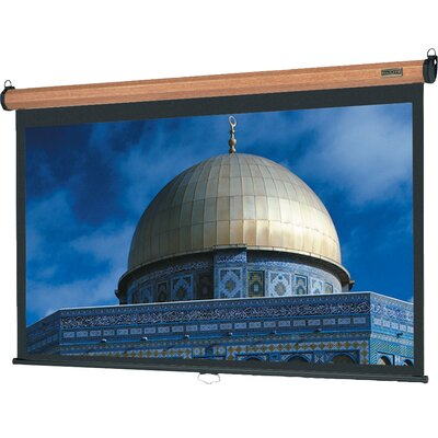 "Da-Lite Veneer Model B Matte White 100"" Manual Projection Screen"
