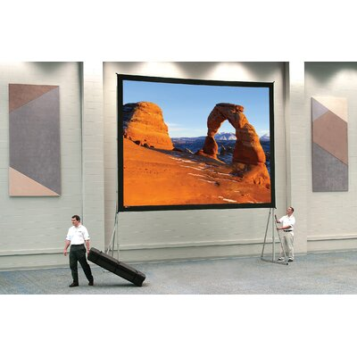 Da-Lite Dual Vision Heavy Duty Deluxe Fast Fold Complete Front and Rear Projection Screen - 6' x 8'