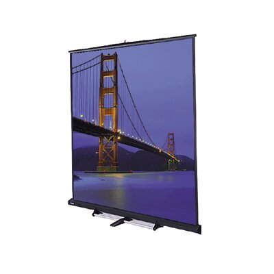 Da-Lite Matte White Carpeted Model C Portable Screen with Black Carpeted Case - 10' x 10' AV Format