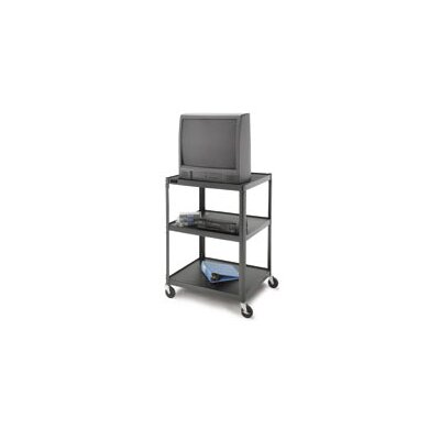 "Da-Lite Pixmate 25"" x 30"" Adjustable Tall Multi-Shelf High Television Cart [54"" Height]"