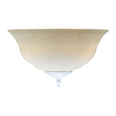 Bowl Glass Shade in Etched White