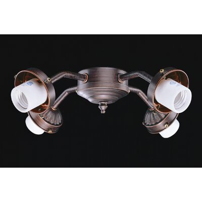 Concord Fans Four Light B8 Fitter in Oil Rubbed Bronze