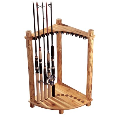 Rush Creek Corner Log 12 Fishing Rod Rack