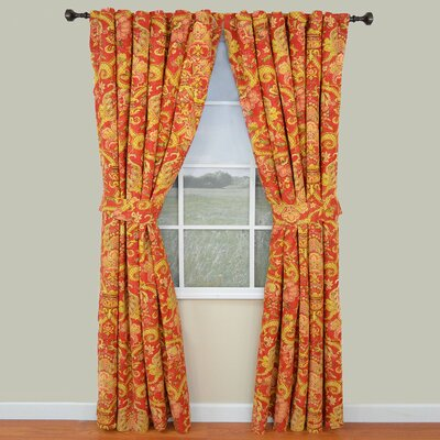 Waverly Archival Urn Cotton Rod Pocket Window Curtain Panel (Set of 2)