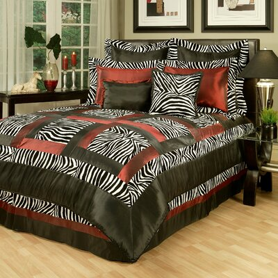 Jungle Passage Zebra 8 Piece Comforter Set