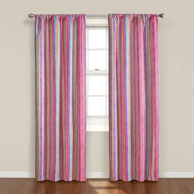Eclipse Curtains Kids Kendall Stripe Rod Pocket Curtain Single Panel