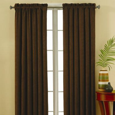 Eclipse Curtains Suede Rod Pocket Window Curtain Single Panel
