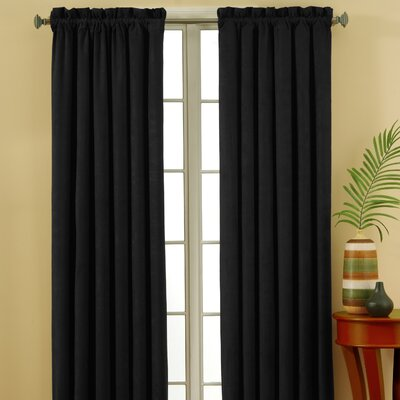 Eclipse Curtains Suede Blackout Rod Pocket Window Curtain Single Panel