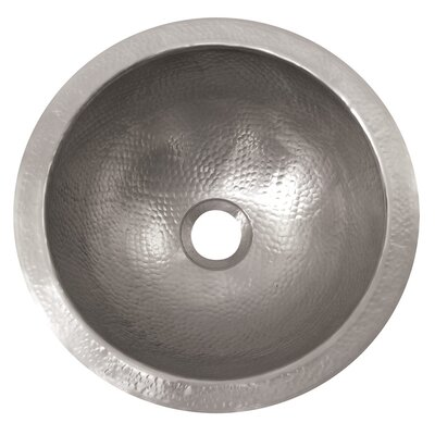 The Copper Factory Small Round Undermount Bathroom Sink - CF146