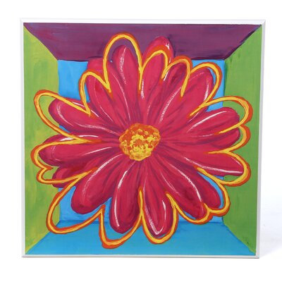Art 4 Kids Vivid Daisy Square II Wall Art