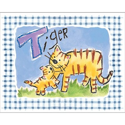 Gingham Tiger Wall Art