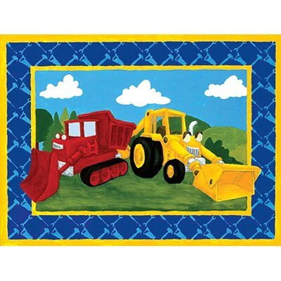 Art 4 Kids Building Trucks Wall Art