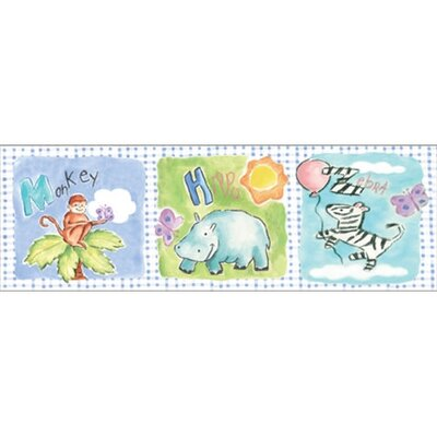 Art 4 Kids Gingham Jungle Animals Wall Art