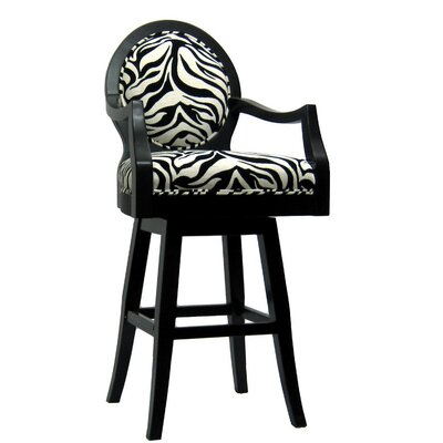 Royal Manufacturing Inc. Black Frame Zebra Barstool (Tall)