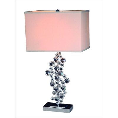 "Gen-Lite Sequin 14"" H Table Lamp with Rectangle Shade"