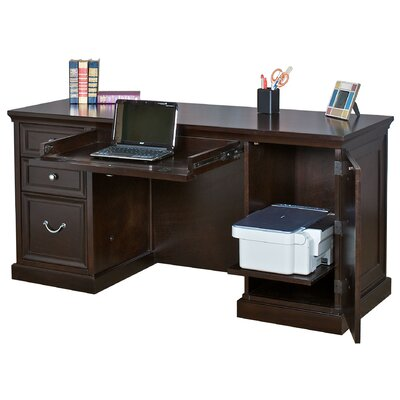 Martin Home Furnishings Kathy Ireland Home by Martin Fulton Space Saver Double Pedestal Executive Desk