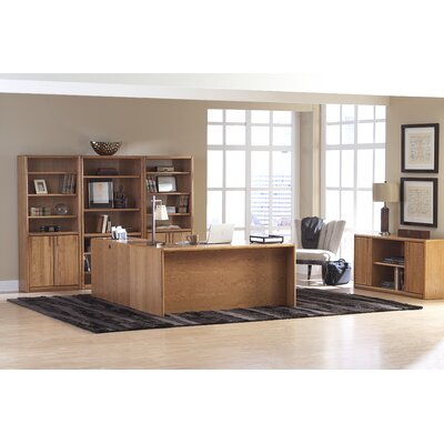 "Martin Home Furnishings Contemporary 70"" H Bookcase with Lower Doors"