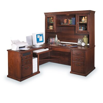 Huntington Oxford Left-Hand L-Shaped Desk and Hutch