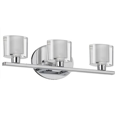 Dainolite Oval Glass 3 Light Bath Vanity Light