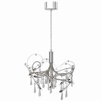 Crystal Wafers 10 Light Chandelier