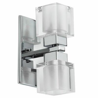 Dainolite New Era Glass Cube 2 Light Vanity Light