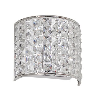 Dainolite Crystal 1 Light Wall Sconce