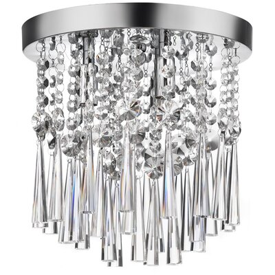 Dainolite Josephine 3 Light Crystal Flush Mount