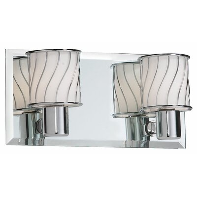 Dainolite Bevelled Mirror 2 Light Bath Vanity Light