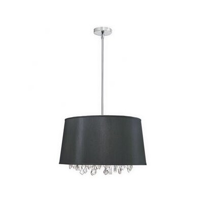 Dainolite 8 Light Crystal Drum Pendant