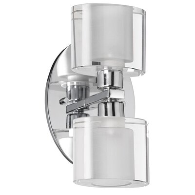 Dainolite Oval Glass 2 Light Bath Vanity Light