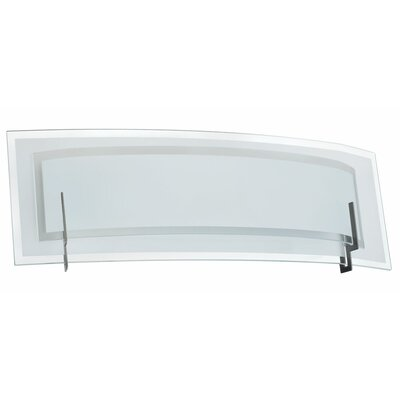 Dainolite Clear/Frosted Glass 2 Light Bath Vanity Light